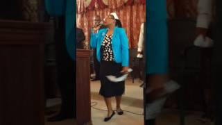 """Sister Mary singing ' Gods been good"""" on Thursday 13th July, 2017."""