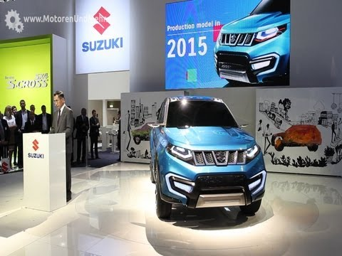 Suzuki IAA 2013 Press Conference Frankfurt – Unveiling the iV-4 concept car