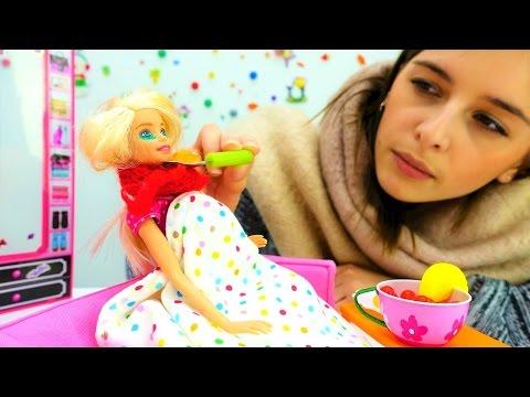 Игры для девочек и видео про кукол: лечим Барби от простуды. #Игрушки #barbie на ютуб (видео)