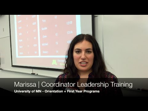 Welcome Week Leader Training - Univ. of MN   Jeff Stafford