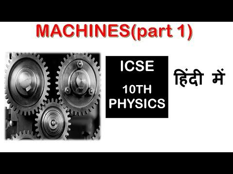 MACHINES - ICSE Class 10th PHYSICS(part 1)