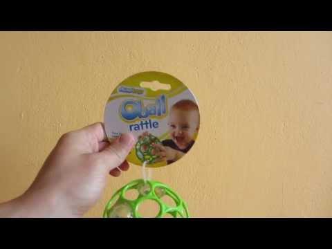 Hračka/ chrastítko OBALL RATTLE 10 cm, 0m+