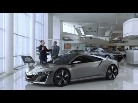 2012 Super Bowl Commercial - Acura NSX 2012 Super Bowl commercial with Jerry Seinfeld and Jay Leno. Reklama nowej Acury/Hondy NSX. Zostanie ona wyświetlona podczas finału ligi futbolu am...