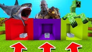 Video Minecraft PE : DO NOT CHOOSE THE WRONG MINECART! (Shark, Thanos & Mutant Creeper) MP3, 3GP, MP4, WEBM, AVI, FLV Juli 2019