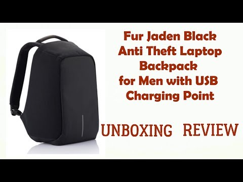 Anti Theft Laptop Backpack for Men with USB Charging Point Review