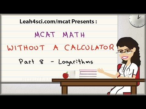 MCAT Math Vid 8 – Logarithms and Negative Logs in pH and pKa Without A Calculator