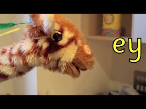 Geraldine the Giraffe learns /ey/