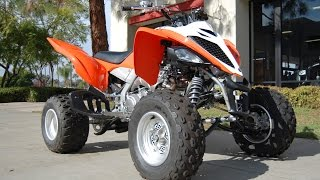 8. 2014 Yamaha Raptor 700 Blaze Orange
