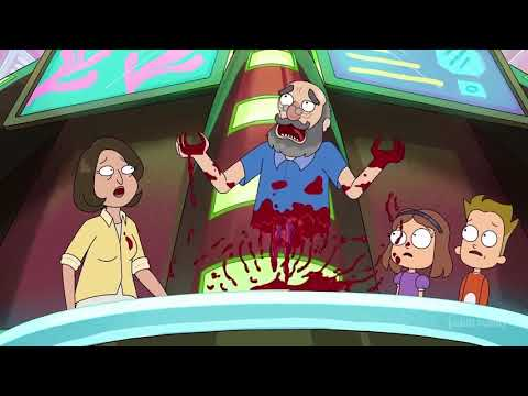 Tickets Please Guy Gets Cut in Half - Rick and Morty (Season 4)