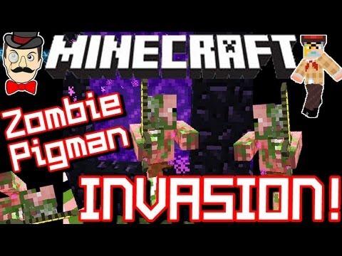 Minecraft zombie pigman invasion in 12w24a