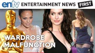 OSCARS 2013 Wardrobe Malfunctions : Jennifer Lawrence, Anne Hathaway, Jennifer Lopez - ENTV