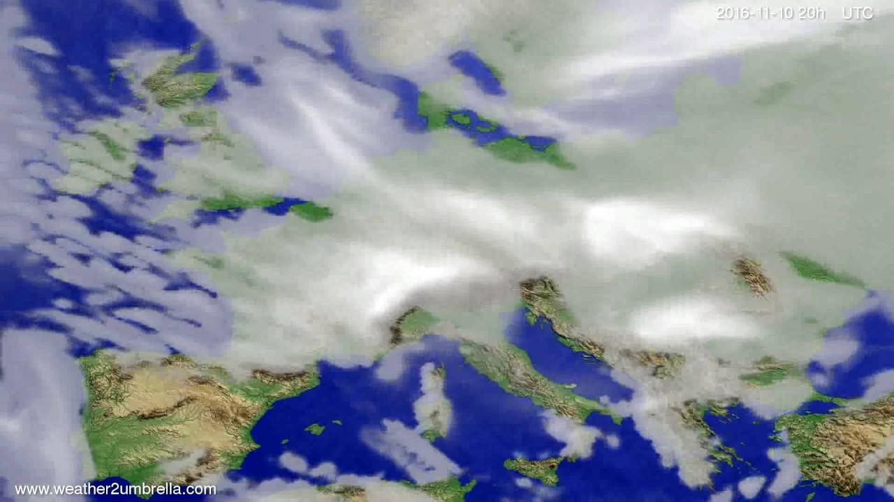 Cloud forecast Europe 2016-11-08