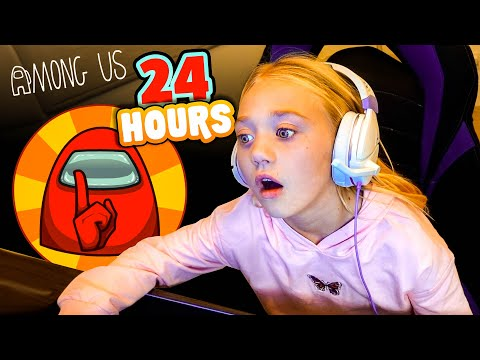 Everleigh Plays AMONG US For 24 Hours Straight!!!