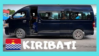 Bus ride in KIRIBATI: Let's go for a bus (van, actually) ride from my hotel towards the capital island of Bairiki in Kiribati (or, Gilbert Islands, as it is known, or, the ...
