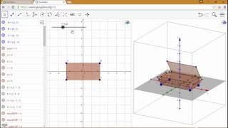 Construction d\'un pavé droit et de son patron avec Geogebra 3D