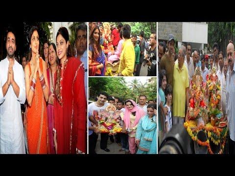 Hrithik Roshan, Shilpa Shetty, Ameesha Patel Ganpati Visarjan