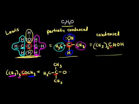 Condensed Structures Video Khan Academy