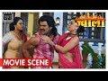 Jwala | Khesari Lal Yadav ,Tanushree on Bhatar Maja Bahari | Bhojpuri Movie Scene | Nav Bhojpuri