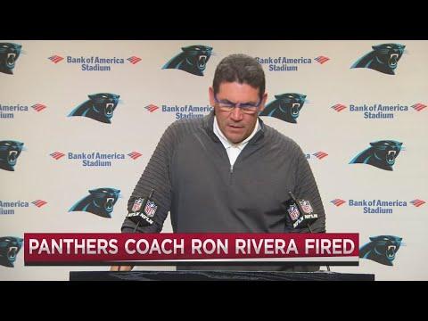 Carolina Panthers cut ties with Ron Rivera