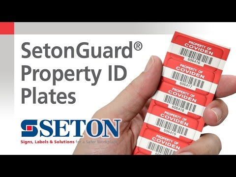 SetonGuard® Property ID Plates | Seton Video
