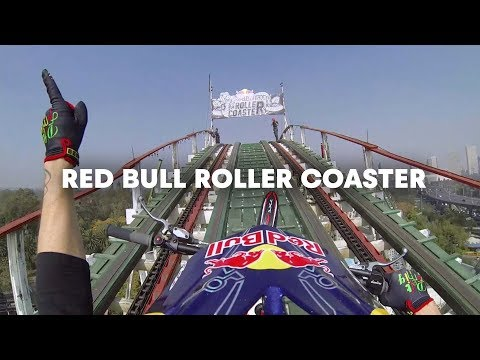 trials motorcycle on a roller coaster! crazy things!