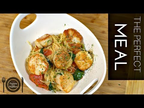 How To Make Seared Scallops With A White Wine And Cream Sauce || Cooking With Confidence