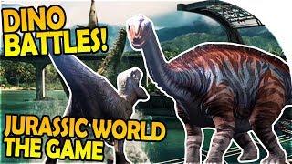 JURASSIC WORLD EVOLUTION HYPE - DINOSAUR BATTLES - Jurassic World The Game Gameplay Part 1