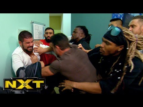 Bobby Roode and Roderick Strong get into a fight before NXT: WWE NXT, June 21, 2017