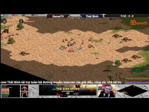 AOE Thái Bình Open 6|Vòng Quần Chiến | 4vs4 Random Máy GameTV  BLV:G_Ver