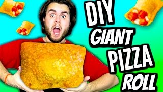 DIY Giant Pizza Roll! | How To Make Huge Totino's Pizza Rolls Tutorial | Biggest Pizza Pocket Ever!