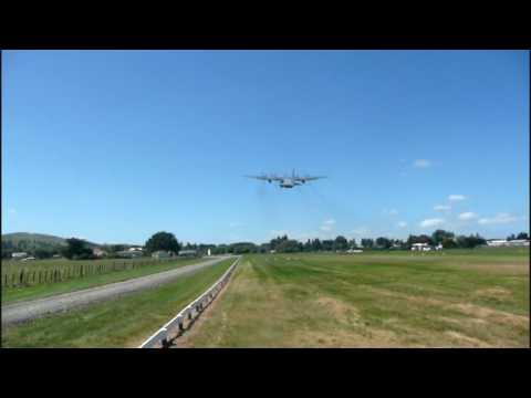 RNZAF C-130 Hercules on take-off,...