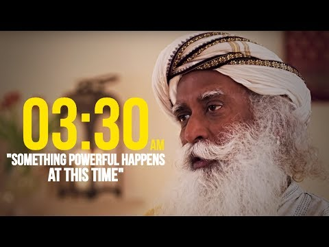 """Something Very Important Happens at 03:30 am"" | SADHGURU shares YOGIC SECRETS"