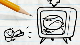 Pencilmate Trapped in the Television! -in-
