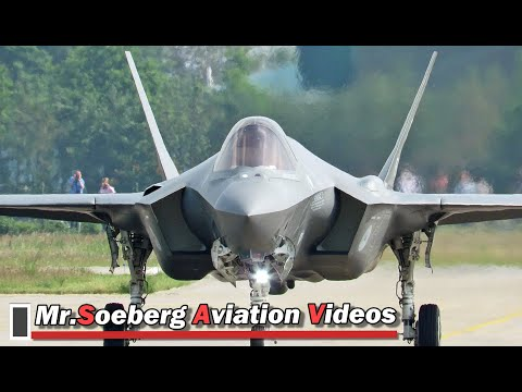 FULL POWER AFTERBURNER Departure F35 at Volkel