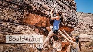 Climbing Projects at Kraft Boulders by Bouldering Vlog