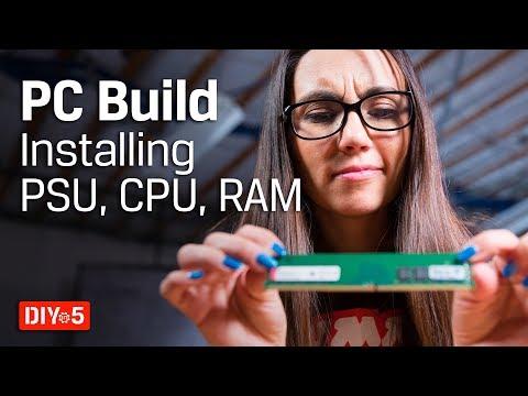 PC Build – Installing CPU, RAM, Cooling – DIY in 5 PC Build Part 5