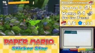 For a text and image based guide: http://mariopartylegacy.com/papermariostickerstar/guides/walkthrough