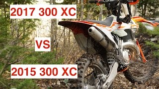 6. 2017 KTM 300 XC vs 2015 300 XC - Part 1 - Episode 178