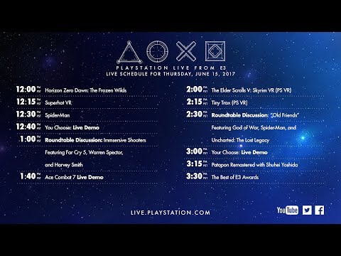 , title : 'PlayStation® Live From E3 2017 | Day 3'