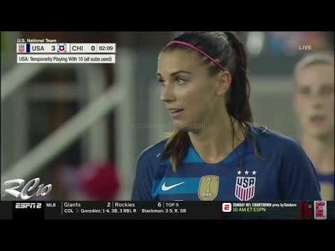 Alex Morgan vs Chile (Every Touch) | 1080p | Home | 4-0 | September 04, 2018 | USA vs Chile