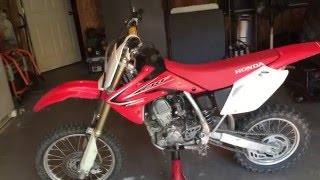3. Honda CRF150r review/start-up