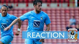Striker Marc McNulty on his two goals in the victory against MK Dons at Liberty Way...
