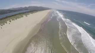 Flying around the beach on a warm-ish Oregon coast day. Nehalem Bay State Park. My Music.