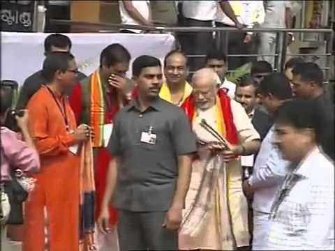 PM Shri Narendra Modi arrives at Jagannath Temple, Puri Odisha
