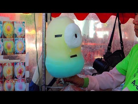 Incredible COTTON CANDY Art: Despicable Me MINIONS, FLOWER, DUCK, PIG, BEAR