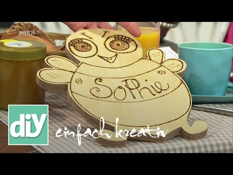 Frühstücksbrettchen selbst herstellen   DIY einfach kreativ