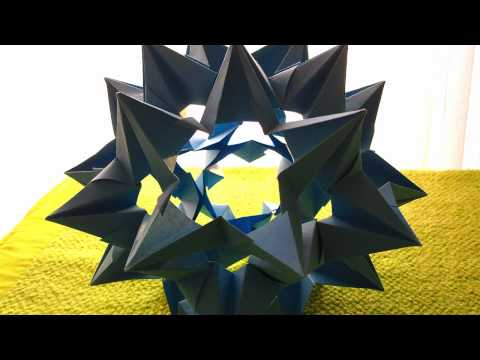 Kusudama Tutorial - 012 -- Omega Star