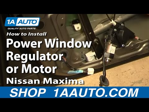 How to install replace power window regulator or motor for How to fix car window motor