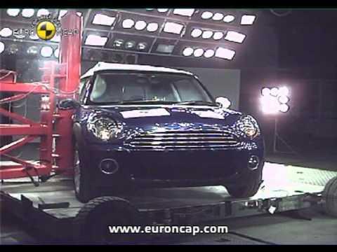 MINI Cooper euroncap çarpışma / güvenlik testi videosu