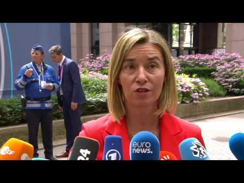 Δηλώσεις Φερντερίκα Μογκερίνι πριν τη Σύνοδο Κορυφής